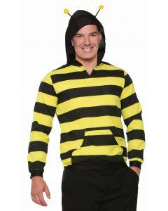 Forum Halloween Striped Bee Hoodie Costume Hoodie, Black Yellow, One-Size