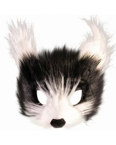 Forum Halloween Hairy Mr. Whiskers Half Mask, Black White, One-Size