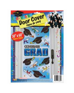 """Congrats Grad"" Graduation Party Decororation 30""x60"" Door Cover"