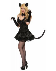 Forum Halloween Sexy Black Cat Clip-On Ears Hair Clips, Black, One-Size