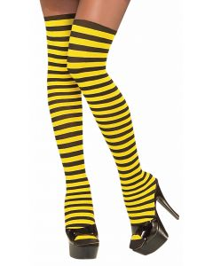 Forum Halloween BumbleBee Striped Thigh-Highs, Yellow Black, One-Size