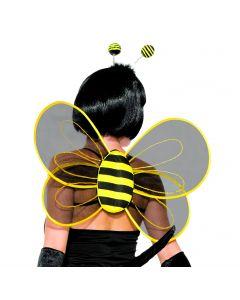 Forum Halloween Sexy BumbleBee Sheer Costume Wings, Black Yellow, One-Size