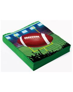 "Forum Football Party Field 13"" Luncheon Napkins, Green Brown, 16 Pack"