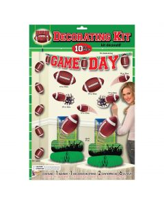 Forum Football Game Day Sunday Paper 10pc Multi Decoration Pack, Green Brown