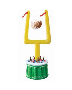 Inflatable 6.5ft Drink Cooler With Goal Post and Football, Green Yellow