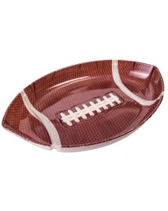 """Forum Football Game Day Sunday Party plastic 12""""x17.5 Serving Tray, Brown White"""