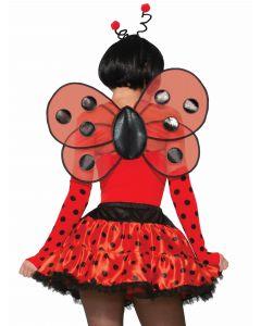 Forum Halloween Sexy Ladybug Polka Dot Wings, Red Black, One-Size