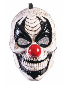 Forum Halloween Killer Clown Moving Jaw Costume Mask, White Black, One-Size