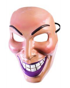 Forum Halloween Evil Villain Purge Grin Face Costume Mask, Tan, One-Size