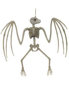 "Forum Halloween Spooky bat Skeleton 15""x14"" Hanging Decorations, Grey"