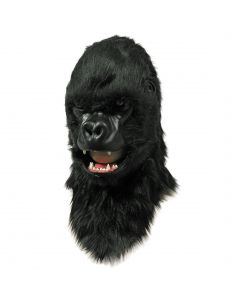 Forum Moving Mouth Mask - Gorilla Over Head Mask, Black, One-Size