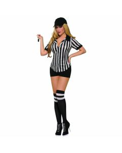Forum Sexy Referee Shirt Costume Shirt, Black White, One-Size Up to 12