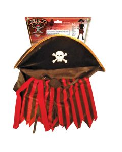 Forum Halloween Pirate 3pc Boy Costume Accessory Set, Brown Red, One-Size
