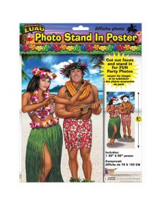 """Forum Entertaining Luau Party Photo Booth Poster 30""""x60"""" Stand-In Prop"""