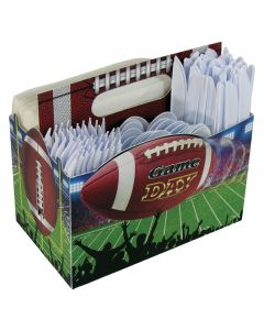 """Forum Football Party Drink or tableware Caddy 8""""x5"""" Serving Caddy, Green Brown"""