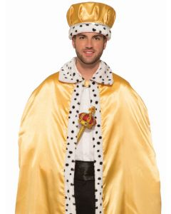 Forum Adult Costume Accessory King Crown, Gold White, One-Size