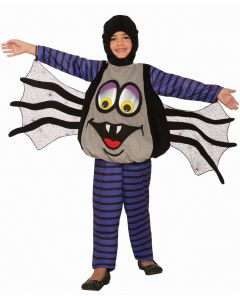 Forum Wiggle Eyes Spider Child Costume, Grey Black Purple, Small