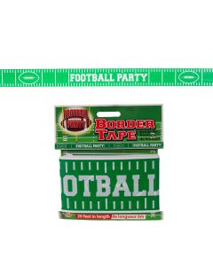 Forum Football Game Day Sunday Party plastic 20' Party Tape, Green White