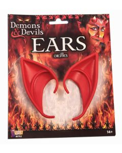 Forum Demons and Devil Costume Ears 2pc Ear Tips, Red, One-Size