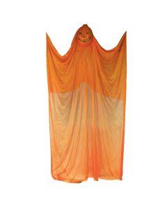 Forum Spooky Halloween Killer Pumpkin 7' Hanging Decorations, Orange Black