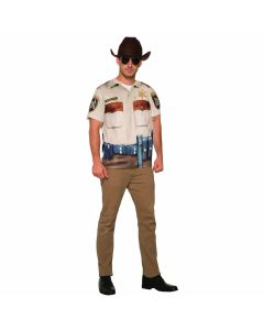 "Forum Sheriff Man Halloween Costume Shirt, Brown Tan, X-Large 50"" chest"