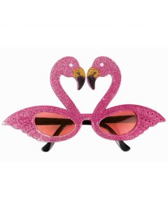 Sparkly Flamingo Luau Party Frames Sunglasses Novelty Glasses, Pink, One-Size