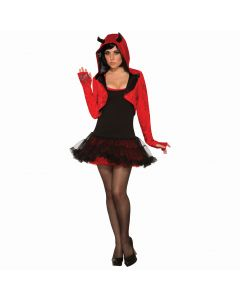 Forum Devil Shrug Halloween Costume Cardigan, Red Black, One-Size up to 12