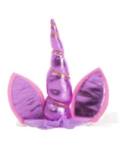 Forum Child Unicorn Horn and Ears Headband, Pink Purple, One-Size