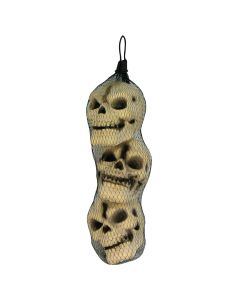 "Forum Halloween Spooky Skulls 5.5"" Body Parts Decor, Tan Black, 3 Pack"