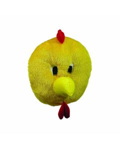 Forum Chick Mascot Halloween Furry Cosplay Full Head Mask, Yellow Red, One-Size
