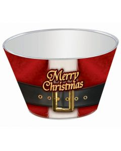 Holiday Themed Christmas Tumbler 9oz Plastic Cups, White Red, 10 Pack