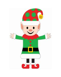 "Elf Felt Buddy Holiday Christmas Helper 21"" Hanging Decoration, Red Green"