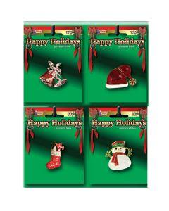 "Christmas Season Holiday Themed Brooch Pin Costume Accessory, 3"""
