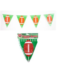 Forum Football Game Day Sunday Party 12' Pennant Banner, Green Brown