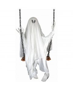 "Forum The Swinging Dead Ghost creature 60"" Hanging Decoration, White Black"