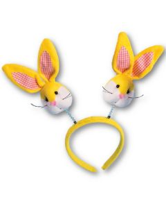 Forum Adorable Sunny Bunny Ears Unique Headband Boppers, Yellow, One-Size
