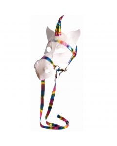 Forum Halloween Magical Unicorn Full Head Mask, White Multi, One-Size
