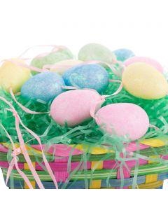 "Forum Glitter Easter Egg String 80"" Garland, Pink Yellow Blue Green"