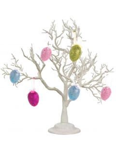 "Seasonal Easter Glitter Eggs 2.5"" Holiday Tabletop Decor, Pink Blue, 6 Pack"