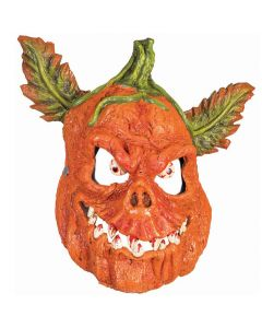 Forum Pumpkin Half Mask With Bloody Teeth Costume Mask, Orange Multi, One-Size