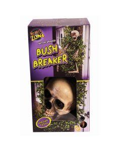 Forum Skeleton Bush Breaker w/ Light Up Eyes 5pc Decoration Prop, Beige Brown