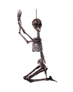 """Forum Halloween Hanging Adjustable Skeleton 36"""" Decoration Prop, Gold Black"""