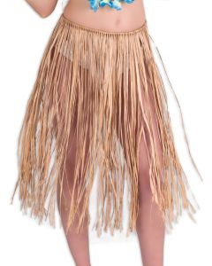 "Adult Raffia Grass Tie Hula Costume Skirt, Beige, One-Size 30"" Long"