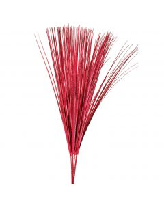 "SKD Holographic Onion Grass Graduation 30"" Decorative Sprays, Red, 12 Pack"