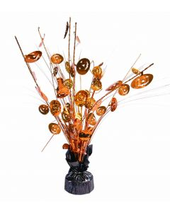 "Forum Pumpkins Halloween Balloon Weight 15"" Table Centerpiece, Orange Black"