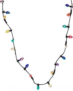 Light Up Christmas Holiday Season Light Bulb Necklace, One-Size 15in