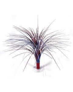 "Patriotic 4th of July Fireworks Fountain 18"" Cascade Centerpiece, Red White Blue"