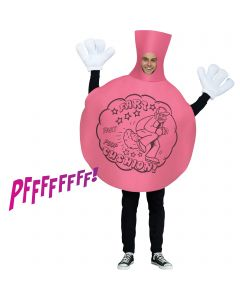 Cartoon Style Whoopee Cushion adult 2pc Costume Accesory Set, One-Size, Pink