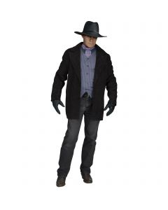 Fun World The Gunfighter 4pc Adult Costume Accessory Set, One-Size, Black Grey