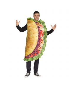 Fun World Adult Realistic Double Sided Delicious Taco Men Costme, One Size